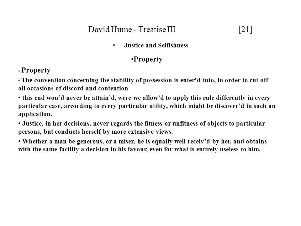David Hume - Treatise III [21]